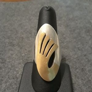 Jewelry - Sterling silver & brass tribal ring size 9.5